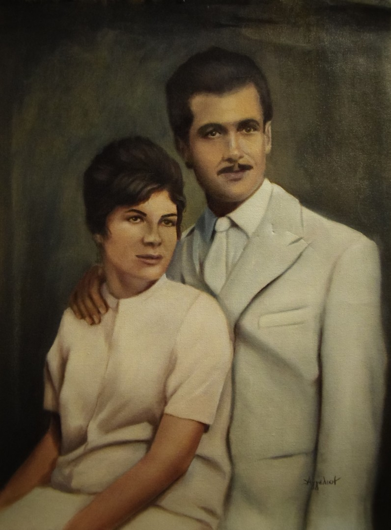 Ageliki [ΑγγελικΗ] - 'Vintage' by Ageliki, 44.5X60cm, oil on canvas