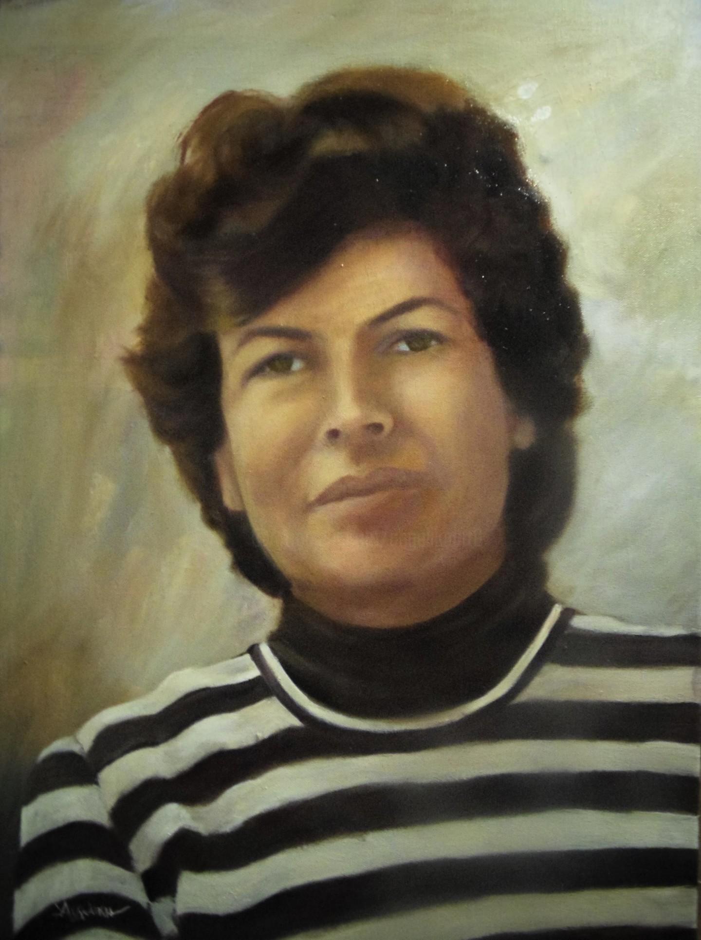 Ageliki [ΑγγελικΗ] - F.B. by Ageliki, 65X50cm, oil on canvas