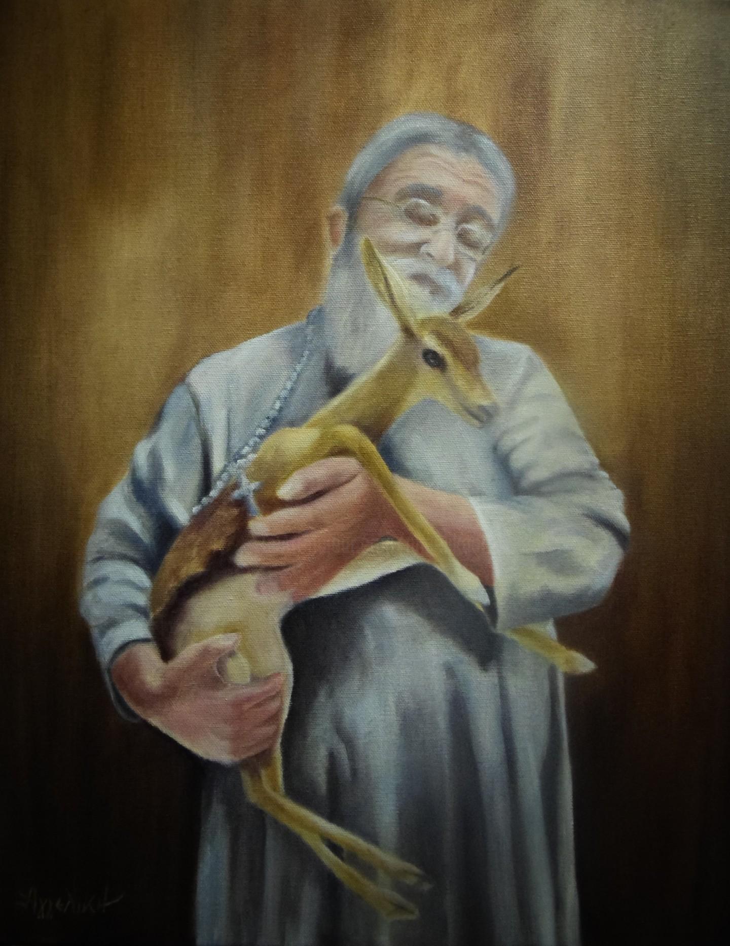 "Ageliki [Αγγελικη] - ""Rescued"" by Ageliki, 50X40cm, oil on canvas"