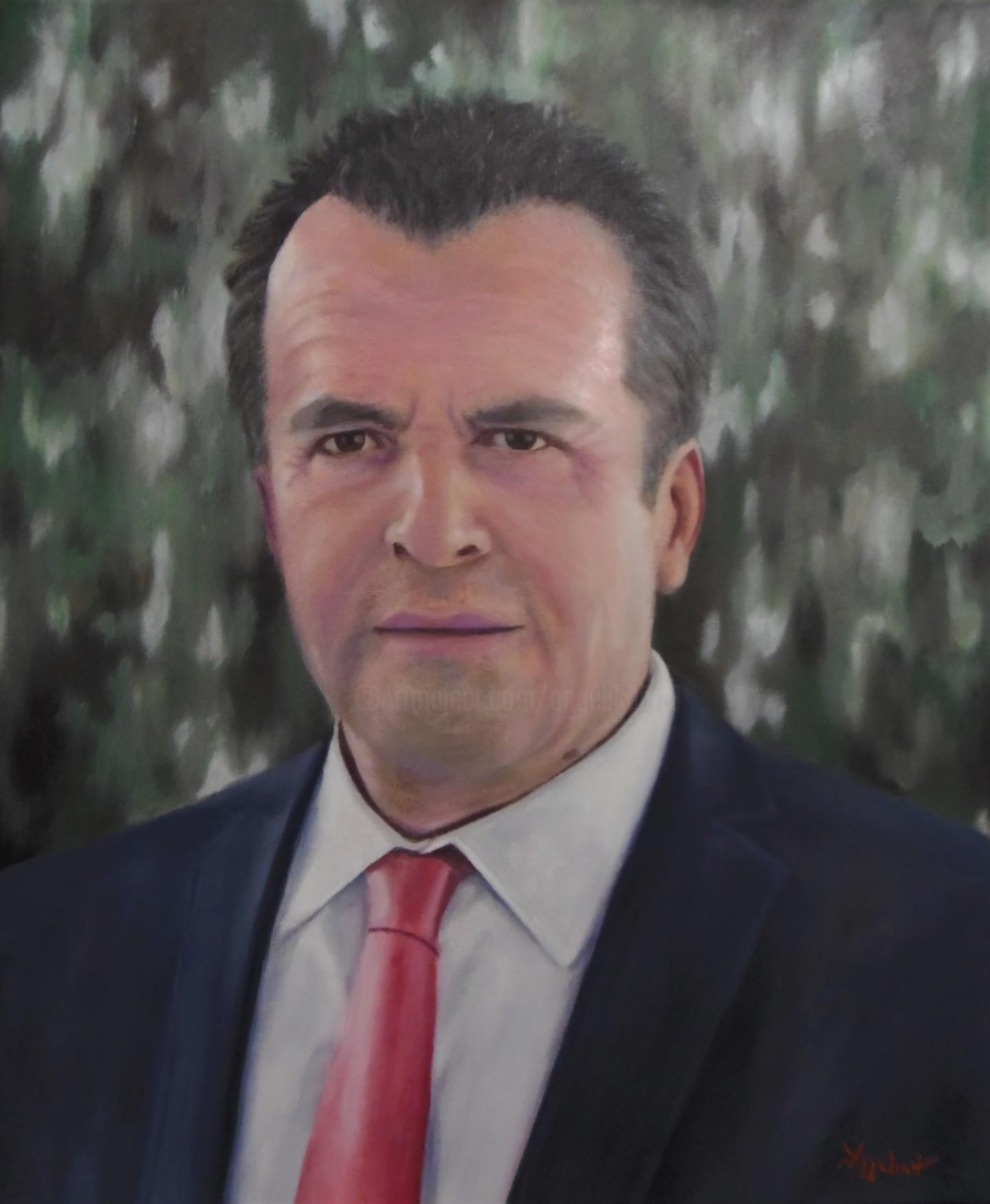 "Ageliki [ΑγγελικΗ] - ""S. H."" by Ageliki, 50X60cm, oil on canvas"