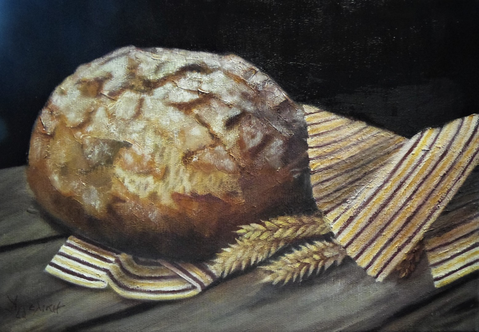 "Ageliki [Αγγελικη] - ""..our daily bread..."", 20Χ30cm, oil on canvas"