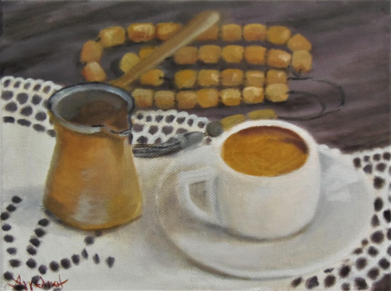 Ageliki [Αγγελικη] - Greek flavor by Ageliki, 18X24cm, oil on canvas