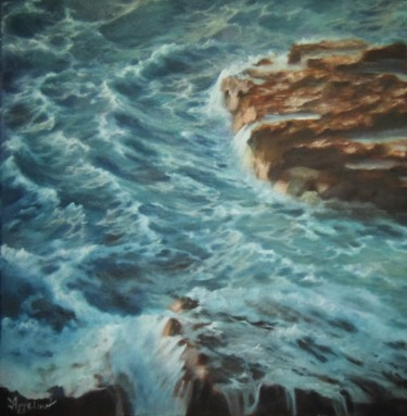 """""""Unrest"""" by Ageliki, 50X50cm, oil on canvas"""