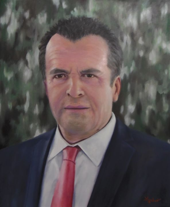 "Ageliki [ΑγγελικΗ] - ""S. H."" by Ageliki, 50X60cm, oil on canvas"