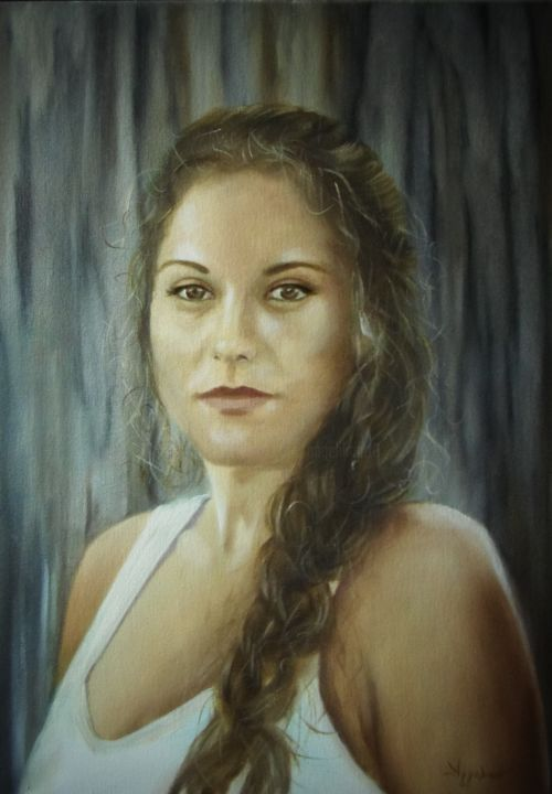 Ageliki [ΑγγελικΗ] - Danai by Ageliki, 50X70cm, oil on stretched canvas